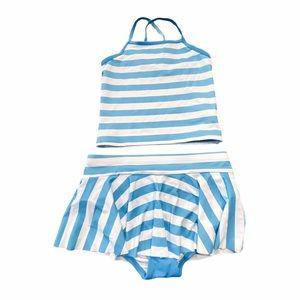 HANNA ANDERSSON Stripe Tankini with swim skirt
